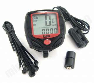 Digital LCD Bicycle Bike Computer Odometer SPEEDOMETER #258