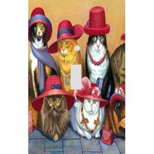 Red Hat Cats Decorative Switchplate Cover