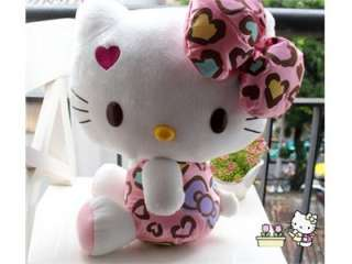 Hello kitty Pink bowknot red heart stuffed plush S size 26cm
