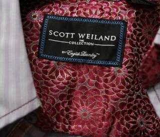 ENGLISH LAUNDRY Scott Weiland mens IRONVILLE grey stripe dress Shirt