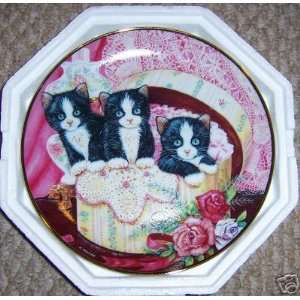 Franklin Mint Hide and Seek Cat plate