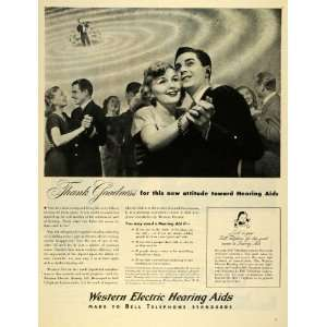 1945 Ad Western Electric Hearing Aids Bell Telephone