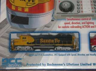 Digital Commander Santa Fe Bachmann Ho Train Set 00501