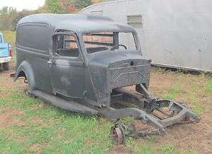1936 Dodge humpback panel van rat hot rod project