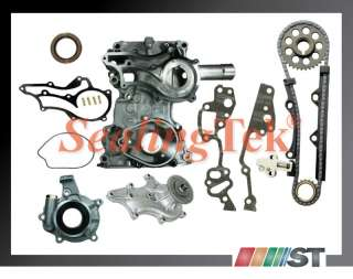 Toyota 22R 22RE Timing Cover Chain Kit + Oil Water Pump