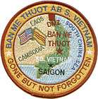 USAF BASE PATCH, BAN ME THOUT AIR BASE SOUTH VIETNAM *