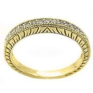 CARAT WOMENS ANTIQUE ROUND CUT DIAMOND RING WEDDING BAND 14K
