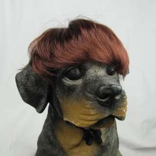 Lovely Pet Dog Cat Wigs Supplier HOT Wine Red