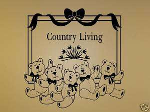 Country Living   Vinyl Wall Art Decals Words