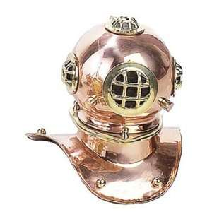 Replica U.S. Navy MARK V Copper Diving Helmet
