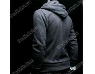 Mens Stylish Slim Top Designed zip Hoodies Coats Jacket 3 Color 4 Size