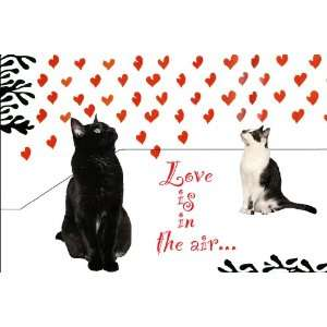 Love Is In The Air (Two Cats) Cat Print