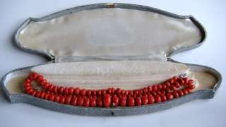 Victorian RED CORAL NECKLACE 14k Gold UNDYED Natural 47,35g