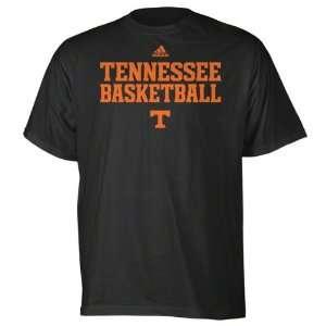 Tennessee Volunteers Black adidas Basketball Sideline T