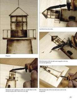 Woodburning Pyrography Guide Wood Art Craft How to Book