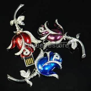 8GB Jewellery Rose Necklace USB Flash Memory Pen Drive