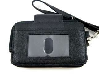 Kenneth Cole Reaction Women Black Cell Phone Tab Card Case Wristlet