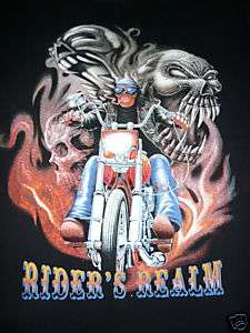 COWBOY CHOPPER MOTORCYCLE EAGLE RIDER T SHIRT BIKER L
