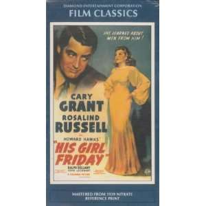 Friday [VHS] Rosalind Russell, Cary Grant, Howard Hawks Movies & TV