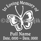 Personalized In Loving Memory Vinyl Decal   Paw Print items in