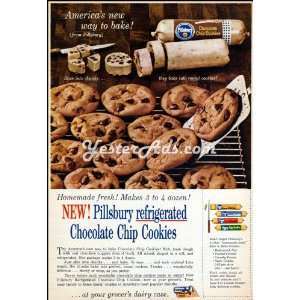 Vintage Ad General Mills Pillsbury refrigerated Chocolate Chip Cookies