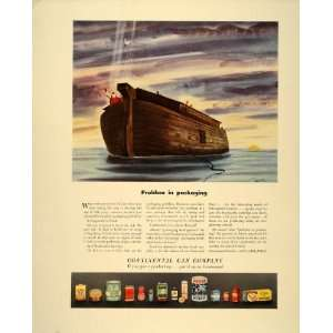 1941 Ad Continental Can Co. Packaging Noah Ark Animals