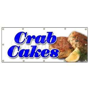 48x120 CRAB CAKES BANNER SIGN crabs cake maryland