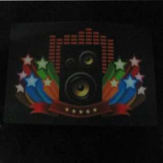 """Up and Down Light Sound Activated LED EL T Shirt """"MUSIC  (With T"""