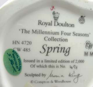 Royal Doulton Spring HN 4720 Figurine Millennium Season
