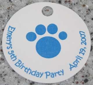 20 Custom Paw Favor Tags   Blues Clues / Cat Birthday
