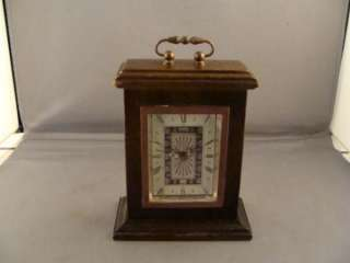 LINDEN WOOD MANTLE CLOCK GERMAN WIND UP MOVEMENT