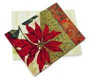 Product Image. Title Tidings of Joy Poinsettia Chrsitmas Boxed Card