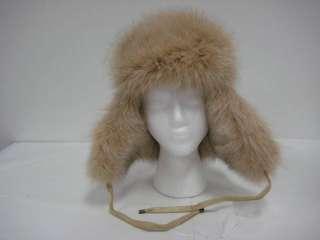 55376 New Beige Mens Unisex Fox Fur Trooper Hat Trapper