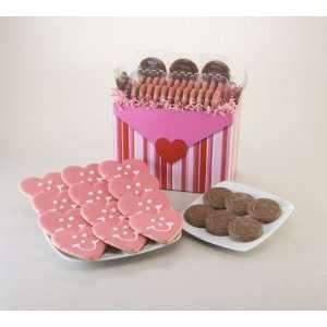 Valentines Day Gift Basket   1 Dozen Hearts & 6