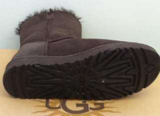 New Authentic UGG Australia Bailey Button US6 EU37 UK4.5 Chocolate
