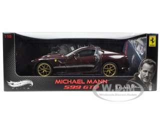 MICHAEL MANN FERRARI 599 GTO BURGUNDY 1/18 ELITE EDITION MODEL CAR BY