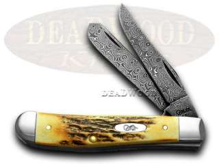 CASE XX Damascus Stag Mini Trapper 1/1000 Pocket Knives