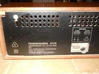 Short Wave Radio Stern Radio Transmiranda 6270 Sonneberg 1968