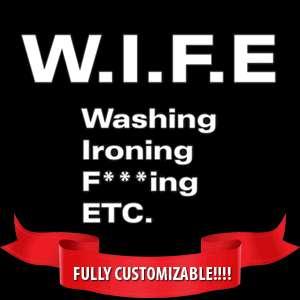 WIFE funny t shirt rude marriage humor husband S 3XL