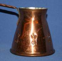 Vintage Turkish Tinned Copper Coffee Pot Pitcher Jug