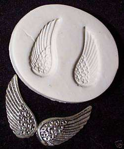 PRETTY WINGS angel fairy feather~ CNS polymer clay mold