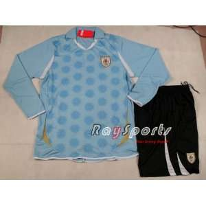 blue uruguay 11 12 home long sleeve shirts 2011 2012 soccer football