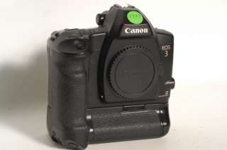 CANON EOS3 SLR CAMERA BODY W/ POWER DRIVE BOOSTER PB E2
