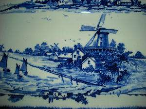 Antique Royal Doulton Blue Willow York Sandwich Plate