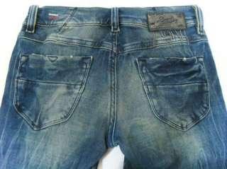 NWT Diesel Jeans LIVY 883I Biker Skinny Divine Stretchy Vintage Blue