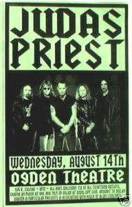 JUDAS PRIEST 2002 DENVER CONCERT TOUR POSTER METAL ROCK