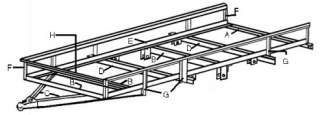 8X16 Low Deck Tandem Utility Trailer Plans,Instructions