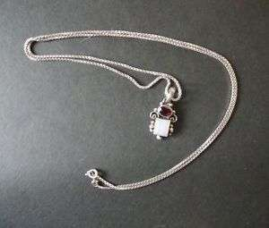 Vintage 925 Sterling Silver Italy Necklace & Pendant