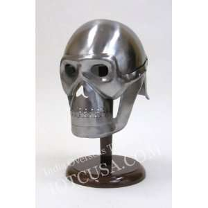 Skeleton Helmet in Steel   Wearable Costume Armor: Everything Else