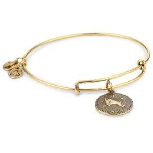 Alex and Ani Bangle Bracelet Bar Russian Gold Plated Aries Bangle